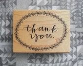 Stamp // THANK YOU // hand calligraphy
