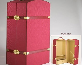 Doll Trunk Case and 4 Hangers for all 18 Inch Dolls like American Girl and Carpatina, Valentine's Day Gift