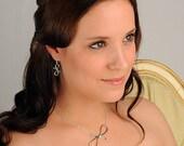 Bow Earrings, Sterling Silver, Handcrafted, Ribbon, Loop, Elegant. VICTORIAN RIBBON MINI Earrings.