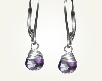 February Birthstone, Amethyst Earrings, CANDY DROP EARRINGS in Amethyst.