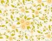 1/2 Yard - Cream Floral, Daydream by Cyndi Walker of Stitch Studios for Riley Blake Designs