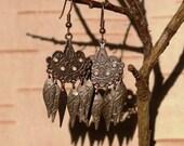 Copper Boho Chandelier Earrings
