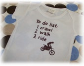 Baby toddler boy girl dirt bike onesie crawl walk ride got dirt