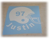 Personalized Football car decal sticker sports