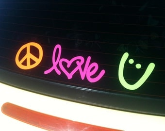 Peace Love Happiness Faith Customize it Decal car sticker