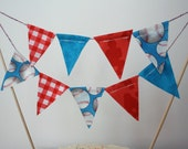 Baseball Theme Mini Cake Bunting