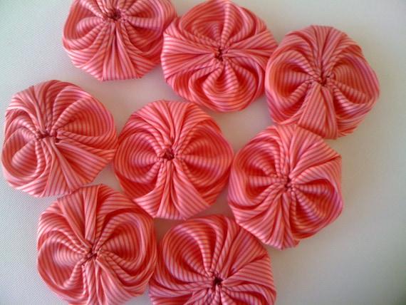 8 pieces satin fabric applique