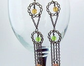 Antiqued Brass Bohemian Earrings PRICE REDUCED