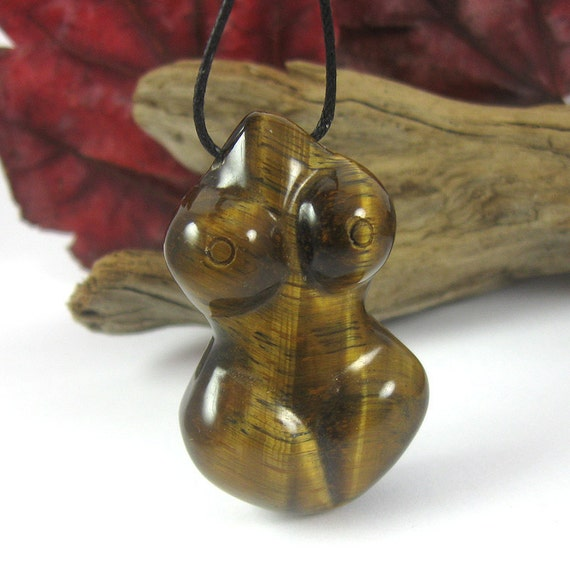 Tiger Eye Fertility Goddess Necklace - Nursing Necklace - Black Friday Etsy Cyber Monday Etsy
