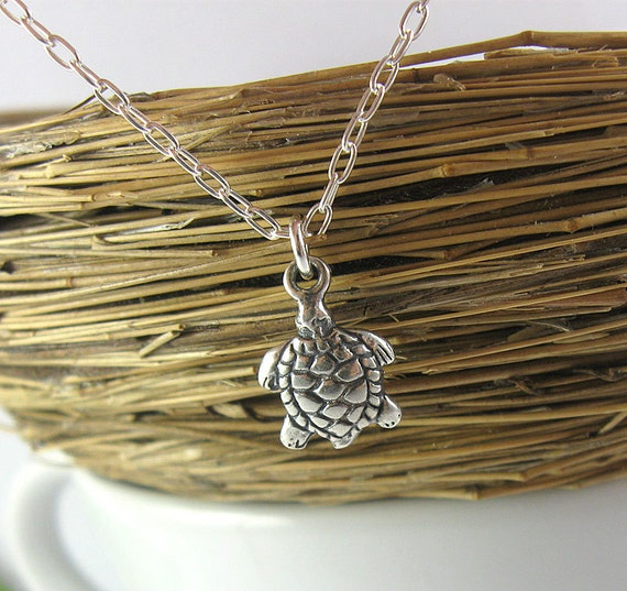 Turtle Fertility Necklace - Sterling Silver Charm Necklace