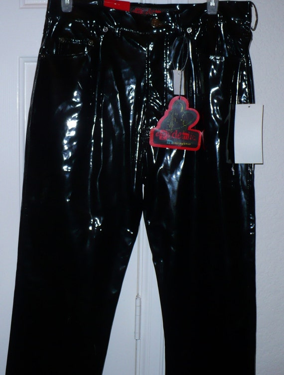retro 1980s mens black vinyl michael jackson by
