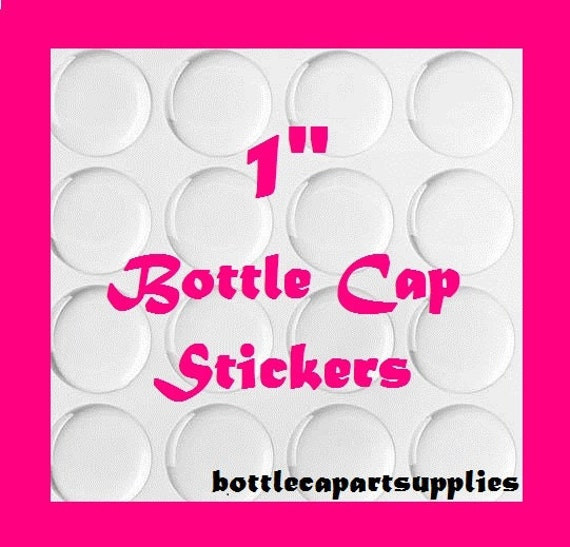 FREE SHIPPING   200 pc Clear 1 INCH Epoxy Adhesive Resin Dome Circles Bottle Cap Seals Stickers.