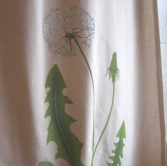 dandelion shower curtain by azlynmarie on etsy