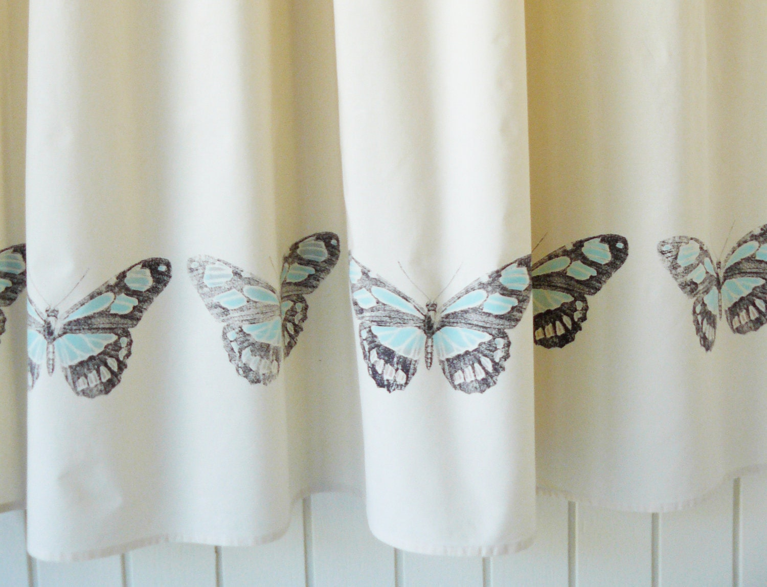 faded butterfly shower curtain