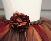 Autumn Blossom Tutu with Handmade Flower Size Large