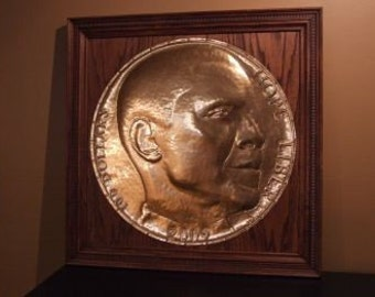Barack Obama Hope and Liberty Wall Medallion