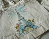 Cotton Market Tote   .....Eiffel Tower