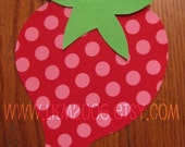 Strawberry Iron On Applique, You Choose Fabric