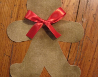 Gingerbread Iron On Applique, You Choose Fabric