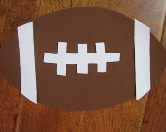 Football Iron On Applique, You Choose Fabric