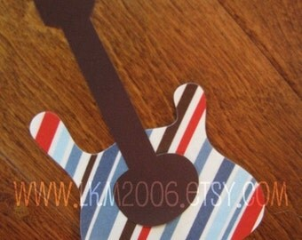 Guitar Iron On Applique, You Choose Fabric