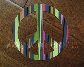 Peace Symbol Iron On Applique, You Choose Fabric