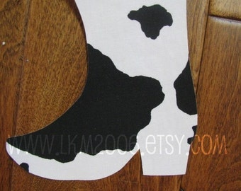 Cowboy Boot Iron On Applique, You Choose Fabric