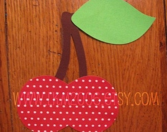 Cherries Iron On Applique, You Choose Fabric