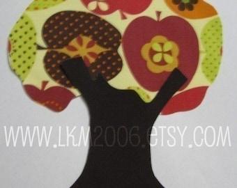Fall Tree Iron On Applique, You Choose Fabric