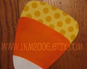 Candy Corn Iron On Applique, You Choose Fabric