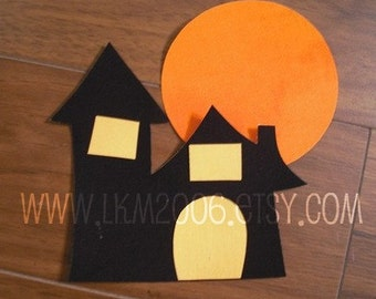 Haunted House Iron On Applique, You Choose Fabric