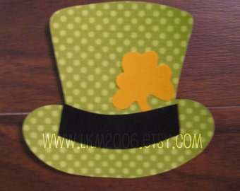 Leprechaun Hat Iron On Applique, You Choose Fabric