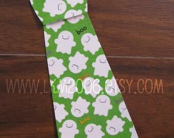 Halloween Iron On Tie, You Choose Fabric