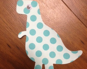 T-Rex Iron On Applique, You Choose Fabric
