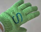 Green Thumb Garden Gloves - Customized Hand Embroidered Monogram