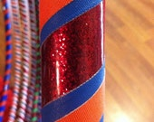 CLEARANCE PRICE-red glitter and orange detail-large-Ready Made Hula Dance Hoop