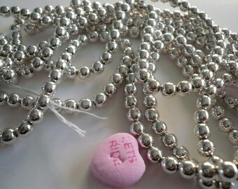 Vintage 5mm Silver Plated Beads NOS