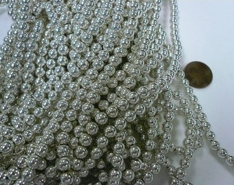Vintage 6mm  Silver Plated Beads Lot 008