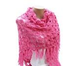 Crochet Shawl Pattern, Tutorial Crochet, Crochet Wrap Shawl, Pineapple Crochet, Women Shawl, DIY Crochet