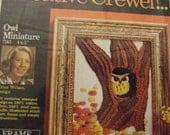 Owl   Crewel Kit     1971