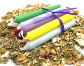 Set of TEN Chime Candles for Meditation, Rituals, Spells