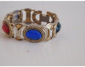 Vintage Colorful Costume Bracelet
