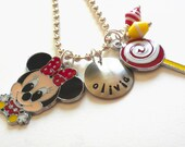 Hand Stamped MOUSE Personalized Charm Necklace for Children