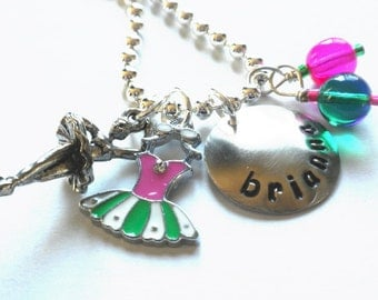 Ballet Necklace Personalized for your Ballerina Necklace For Girls Dance  #D12