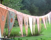Create your own custom flag banner, vintage linens, fun new fabrics