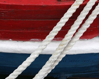 Fine Art Photograph - Nautical Red White and Blue