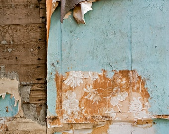 Fine Art Photograph - Peeling Paint and Wallpaper