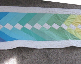Light Rainbow Table Runner/Wall Hanging/Bed Runner