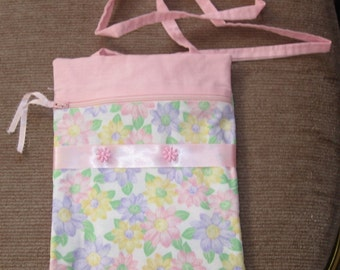 Flowers in PInk Purse