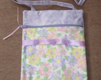 Flowers in Purple Purse